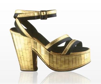 Plataformas douradas Carmen Miranda