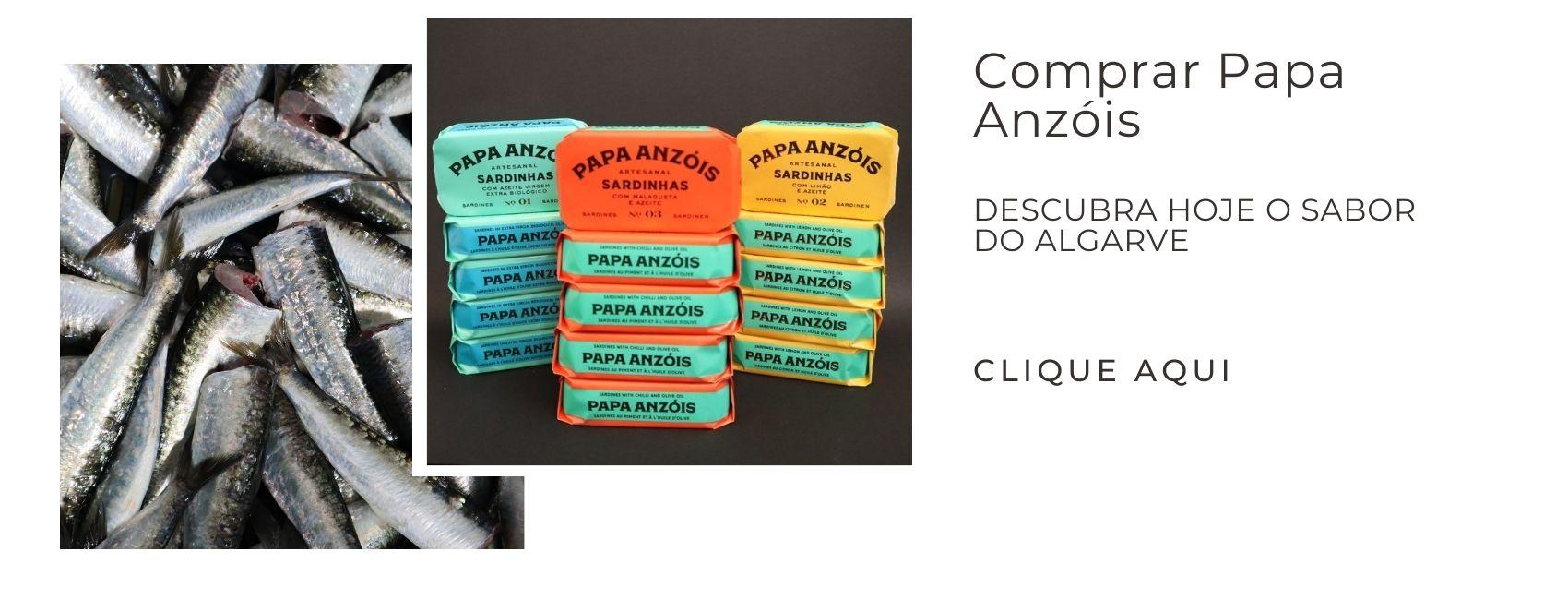 Comprar Papa Anzóis - conserveira do arade - saboreal,  barlavento algarvio, sardinha, sardinha em lata.