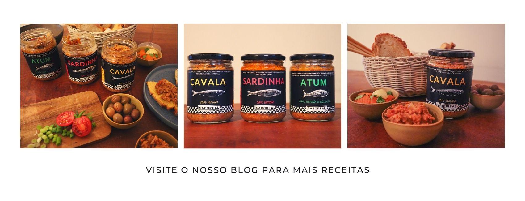 Visito blogue para mais receitas da Saboreal - Conserveira do Arade - Conserveira Portugal - Conserveira Algarve