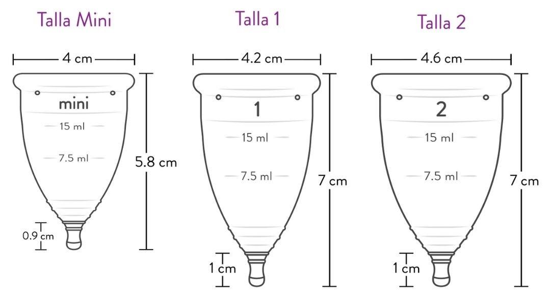 medidas copa menstrual eva
