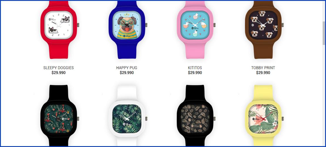relojes de colores personalizados