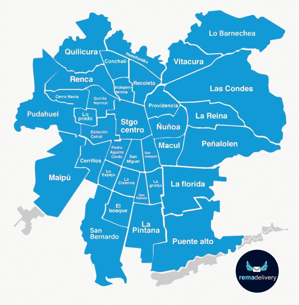 Mapa de delivery Santiago