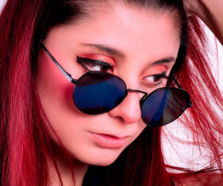 Carowiza Cosplayer Lentes de sol filtro 100% UVa y UVB para mujer