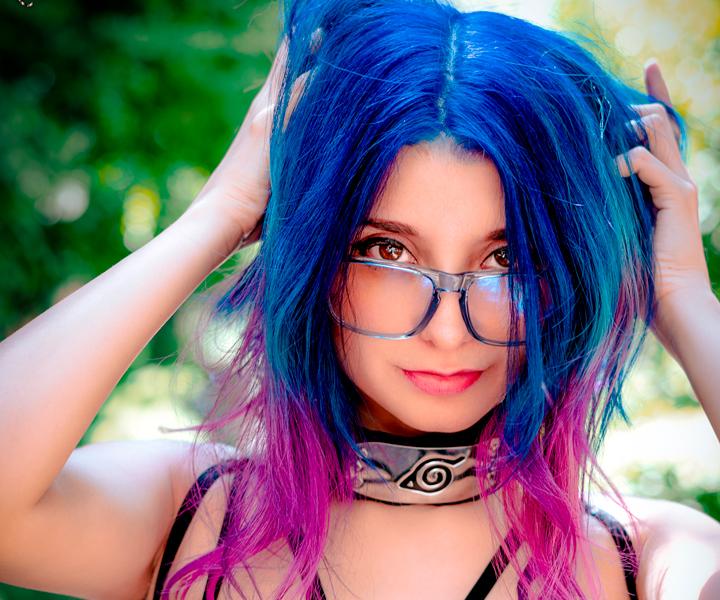 CaroWiza Streamer Cosplay Blue Hair
