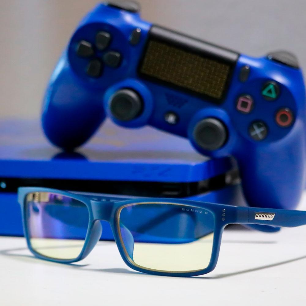 lentes azules para PS4 con filtro de rayos dañinos