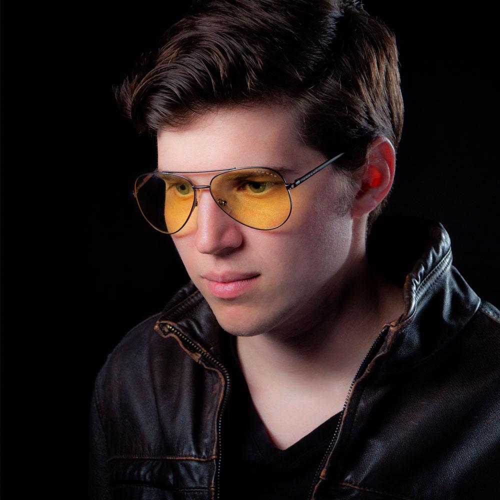 Maverick amber lentes de aviación o aviador moda