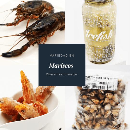 Variedad de mariscos
