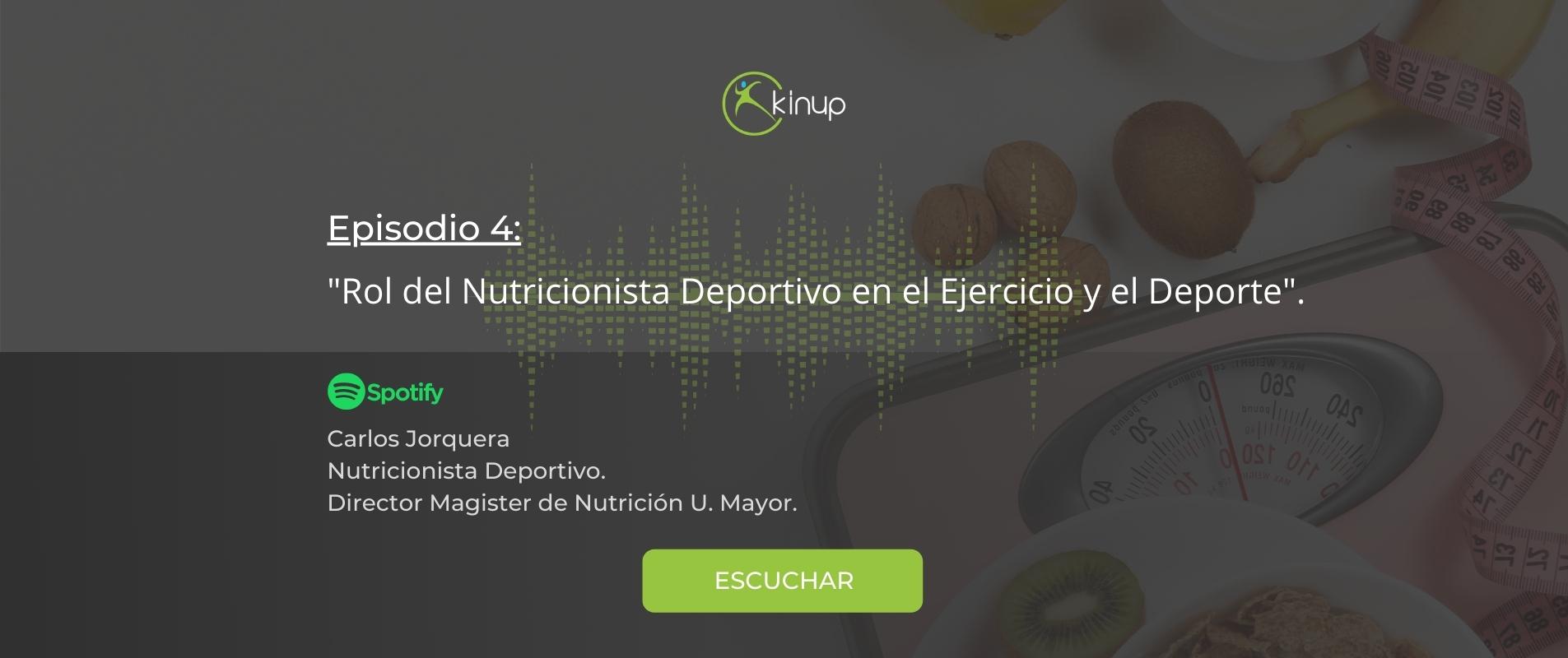 Podcast - Rol del Nutricionista Deportivo en el Ejercicio y el Deporte