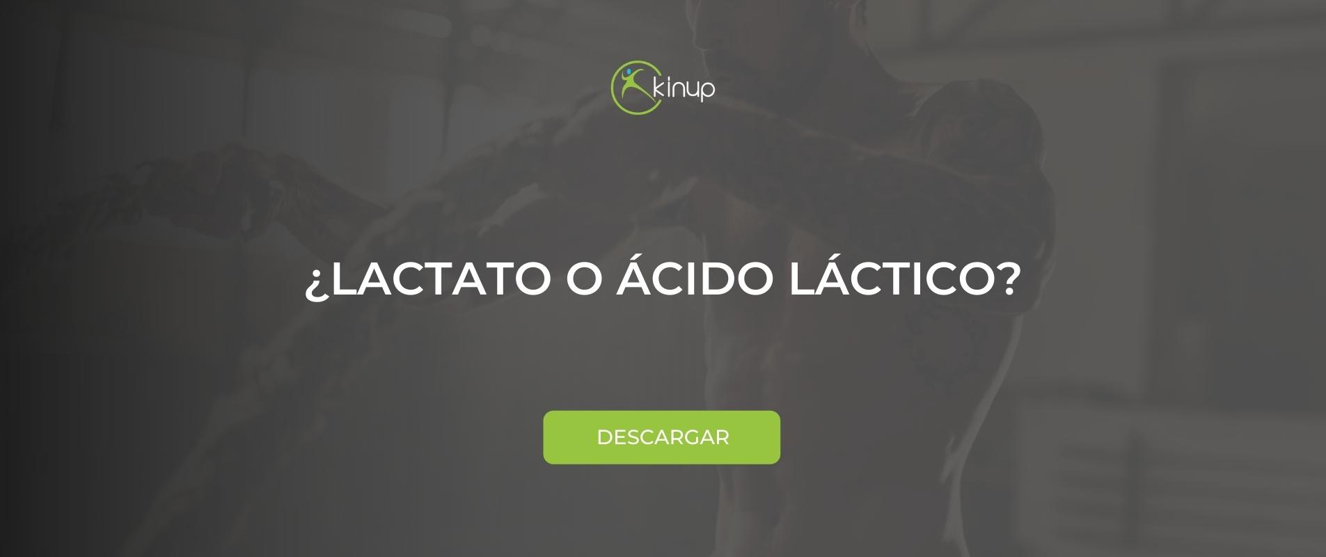 ¿Lactato o ácido láctico?