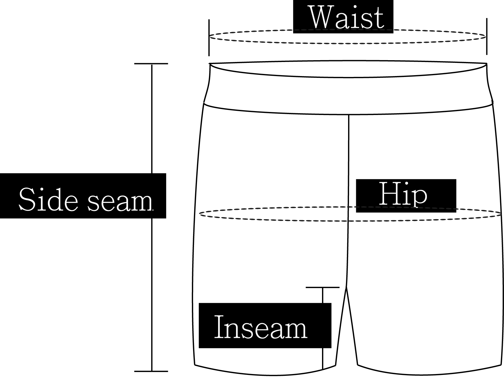 How to measure a pair of shorts