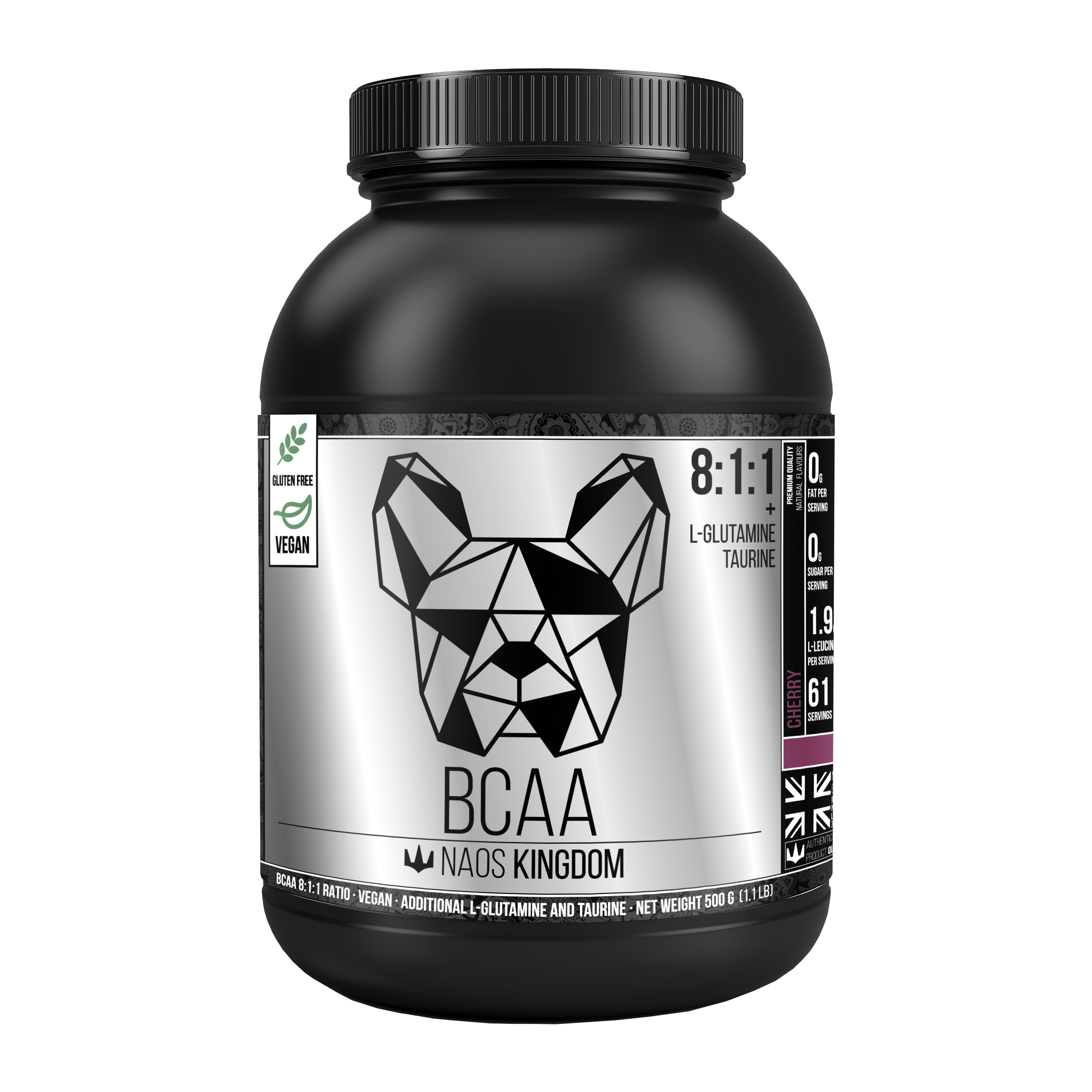 NAOS KINGDOM - White Bulldog BCAA