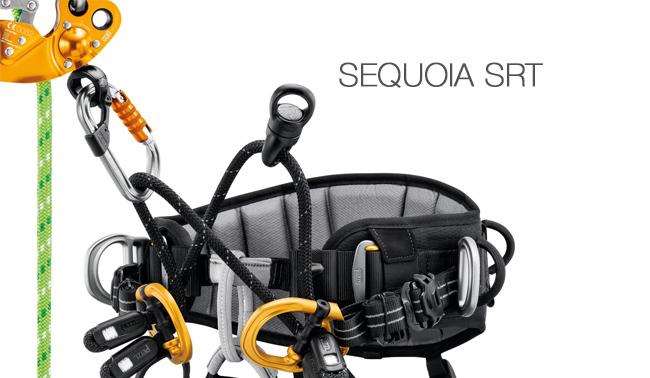 Arnés de asiento para podadores que utilizan la técnica de ascenso por cuerda en simple o SRT
