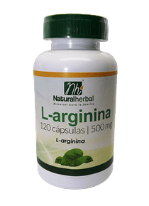L-Arginina - 120 Cápsulas 500 mg.