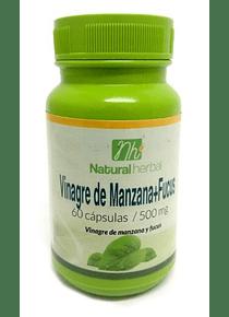 Vinagre de Manzana + Fucus - 60 Cápsulas 500 mg.