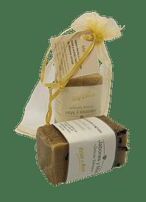 Jabón artesanal: menta - 120 grs. (aprox)