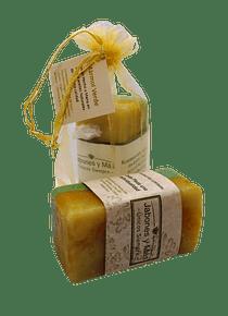 Jabón artesanal: mármol verde - 120 grs. (aprox)