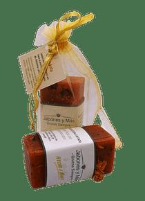 Jabón artesanal: caléndula - 120 grs. (aprox)