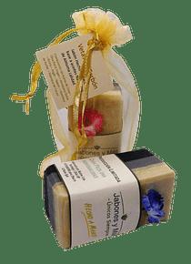 Jabón artesanal: vetas de carbón - 120 grs. (aprox)