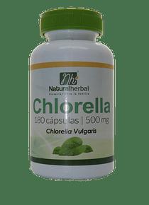 Chlorella 180 Cápsulas 500 mg.