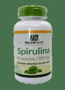 Spirulina - 90 Cápsulas 500 mg.