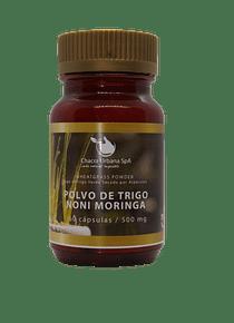 Polvo de Trigo - Noni - Moringa - 60 Cápsulas 500 mg.