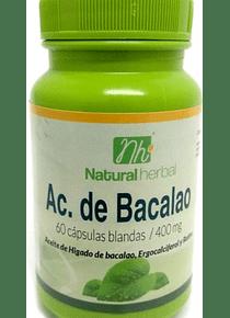 Aceite Bacalao - 60 Cápsulas 400 mg.
