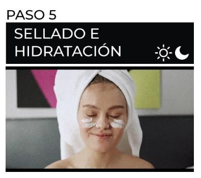 paso a paso rutina de belleza aplicación de crema para la cara