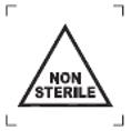 Símbolo Não estéril